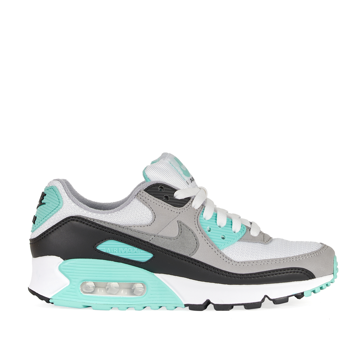 Air Max 90, WHITE/PARTICLE GREY-HYPER TURQ-BLACK
